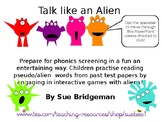 Phonics screening aliens