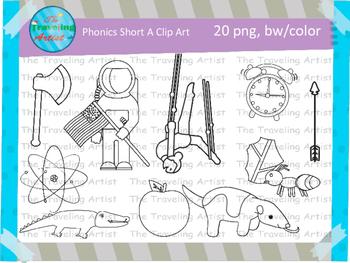 Phonics short A clip art