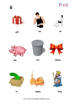 Phonics-short i worksheet