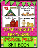 Zoo, Farm, Desert, Camp Mini Book