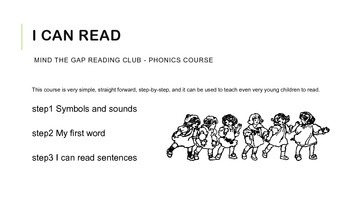 Phonics sound cards for reading words and short sentences