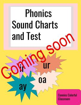 Phonics sound charts and test