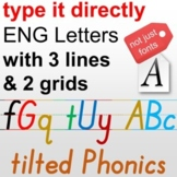 Phonics typeface, One button make Primary Sheet, Autoappea