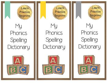 Phonics words / Dictionary / Digraphs / Diphthongs / Blends / Phonics bookmarks