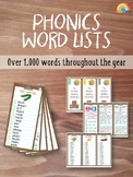 Phonics words / Dictionary / Digraphs / Diphthongs / Blend