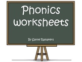 Phonics worksheets: visual/auditory discrimination and pronunciation