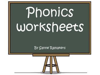Phonics worksheets: visual/auditory discrimination and pro