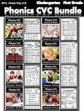 Phonics worksheets :  CVC fluency bundle - Kindergarten/Fi