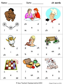 Phonics worksheets - join the letters to make the words