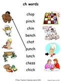 Phonics worksheets - match the image to the word (draw a line)