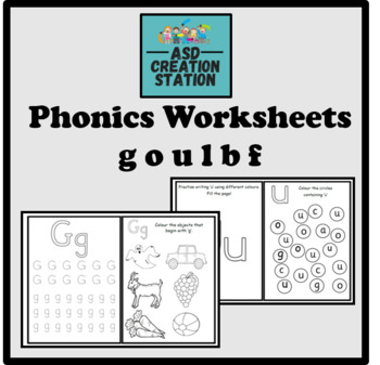 Phonics worksheets x24 Jolly Phonics Set 3: goulbf