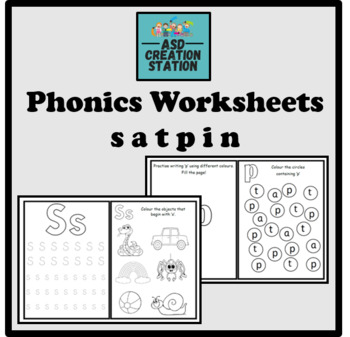 Phonics And Letter Formation Bundle Satpin By Asd Creation Station