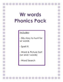 Phonics:  wr words