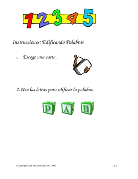 Phonics/Blending:  Build a Word (English and Spanish)