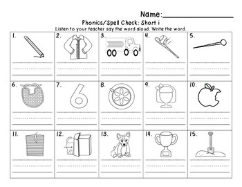 CVC Word Writing Sheets Kinder and 1st Grade
