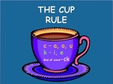 Phonics/Spelling/Reading Rule for the Hard Sound of C - The Cup Rule