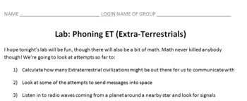 Phoning ET: Astronomy Lab on Communicating with Extraterrestrials