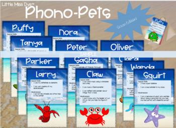 Phono-Pets Creature Cards... Like Pokemon, but for Vocabulary Development!