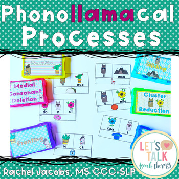 PhonoLLAMAcal Processes-Phonological Processes Task Cards for Speech Therapy
