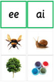 Phonogram Auditory Matching Cards (Green Sandpaper Letters)