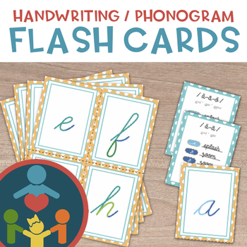 Phonogram Cards : Cursive Handwriting Practice