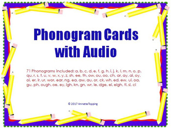 Phonogram Cards with Audio- Phonics Sound Cards