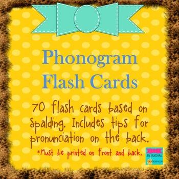 Phonogram Flash Cards (70 cards)