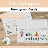 Orton-Gillingham Phonogram Flash Cards (Fold-Over Format)