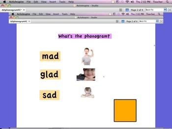 Phonogram Flip Chart Flipchart AD with ACK  ESL ELL