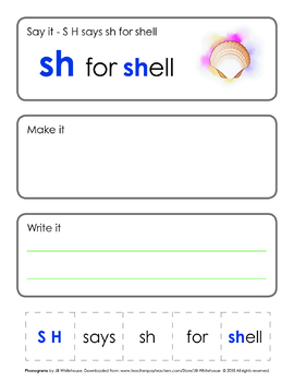 Phonogram Individual Lessons - SH for Shell