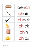 Phonogram Picture to Word Matching - CH/SH/TH/PH/WH