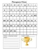 Phonogram Student Recording Sheet 1