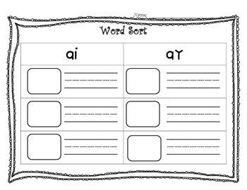 Phonogram Word Sort