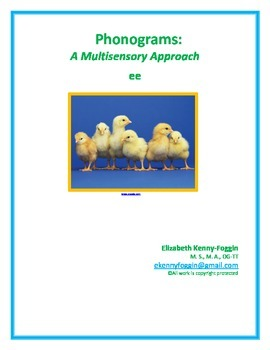 """Vowel Team """"ee"""": A Multisensory Approach"""
