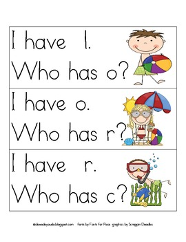 Phonograms I have, Who has?