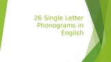 Phonograms Powerpoint -- Basic 26 Letters