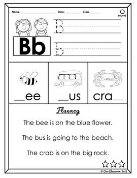 Phonograms and Fluency (Single-Letter Phonograms)