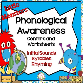Back to School Phonological Awareness Center Activities and Worksheets