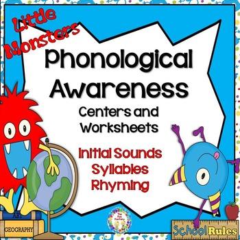 Back to School Phonological Awareness Center Activities an