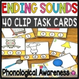 Final Letter Sounds Correspondence Clip Task Cards