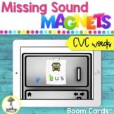 Phonological Awareness Activities - BOOM Cards - CVC Words
