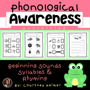 Phonological Awareness Activities - Beginning Sounds, Syllables and Rhyming
