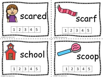 Phonological Awareness Blends - Count the Sounds Cards Activity