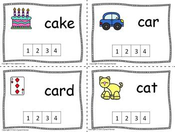 Phonological Awareness Activities - Count the Sounds Cards