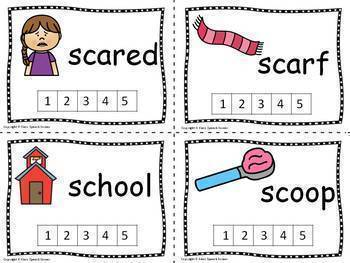 Phonological Awareness Bundle - Count the Sounds Activity Cards - Low Prep