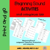 Phonological Awareness Activity Beginning Sounds