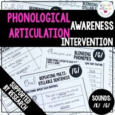 Phonological Awareness Articulation Intervention K G