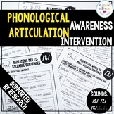 Phonological Awareness Articulation Intervention S Z SBlends
