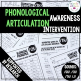Phonological Awareness Articulation Intervention SH CH TH J