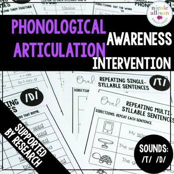 Phonological Awareness Articulation Intervention T D